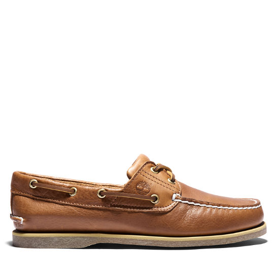 Classic Full Grain Boat Shoe for Men in Dark Beige | Timberland