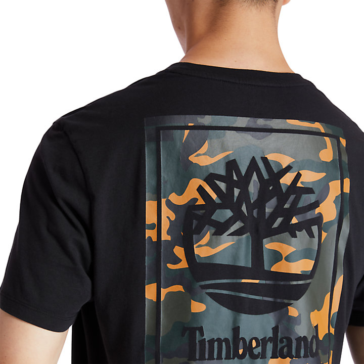 Camo Tree Logo T-Shirt for Men in Black-