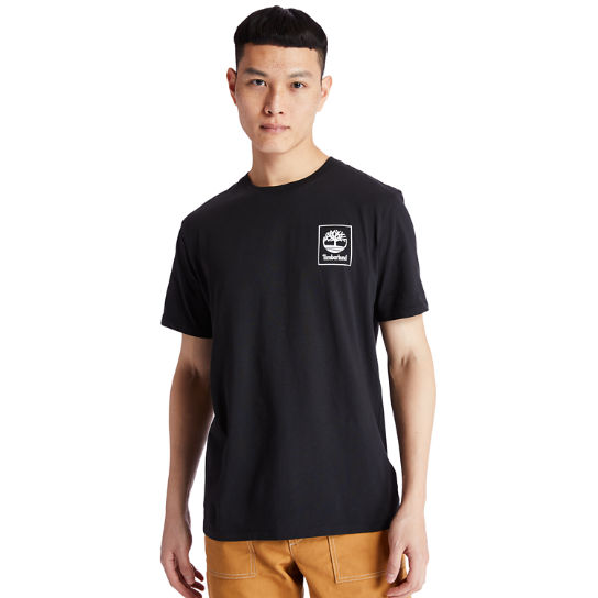 Camo Tree Logo T-Shirt for Men in Black | Timberland
