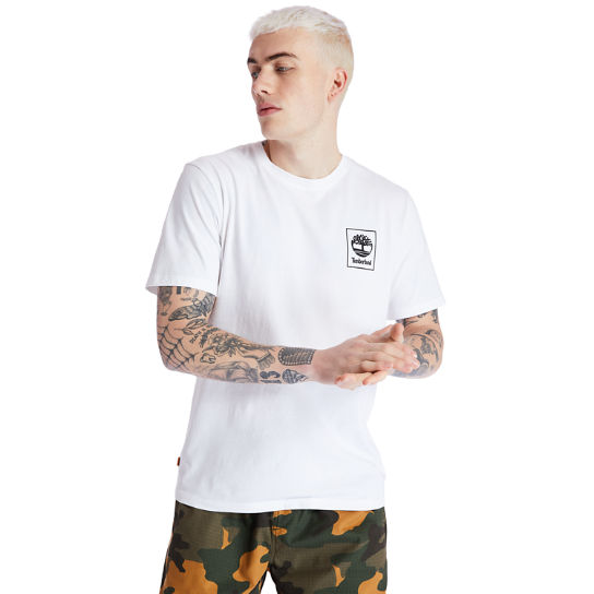 Camo Tree Logo T-Shirt for Men in White | Timberland