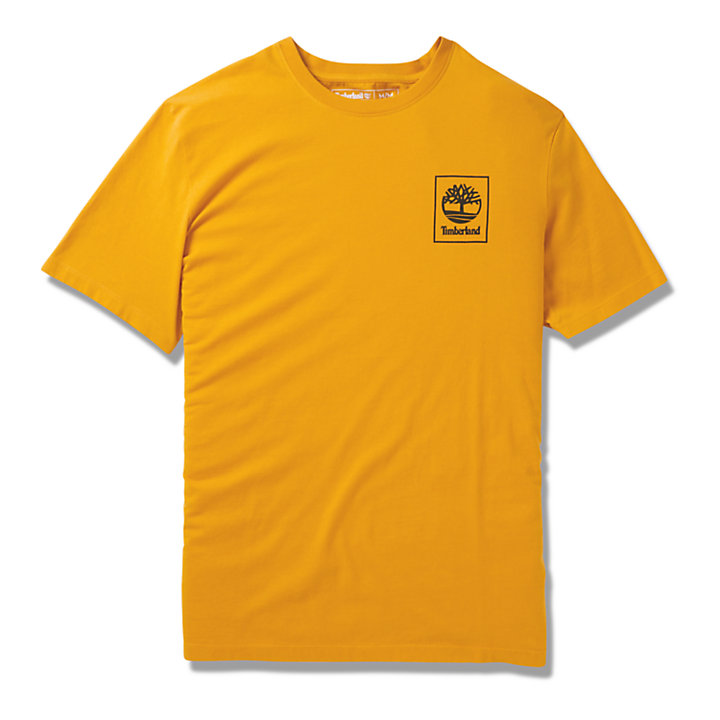 Camo Tree Logo T-Shirt for Men in Orange-