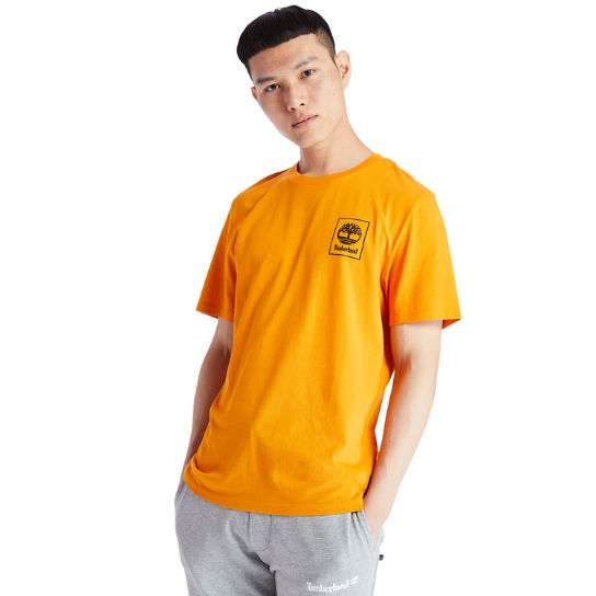 Camo Tree Logo T-Shirt for Men in Orange | Timberland