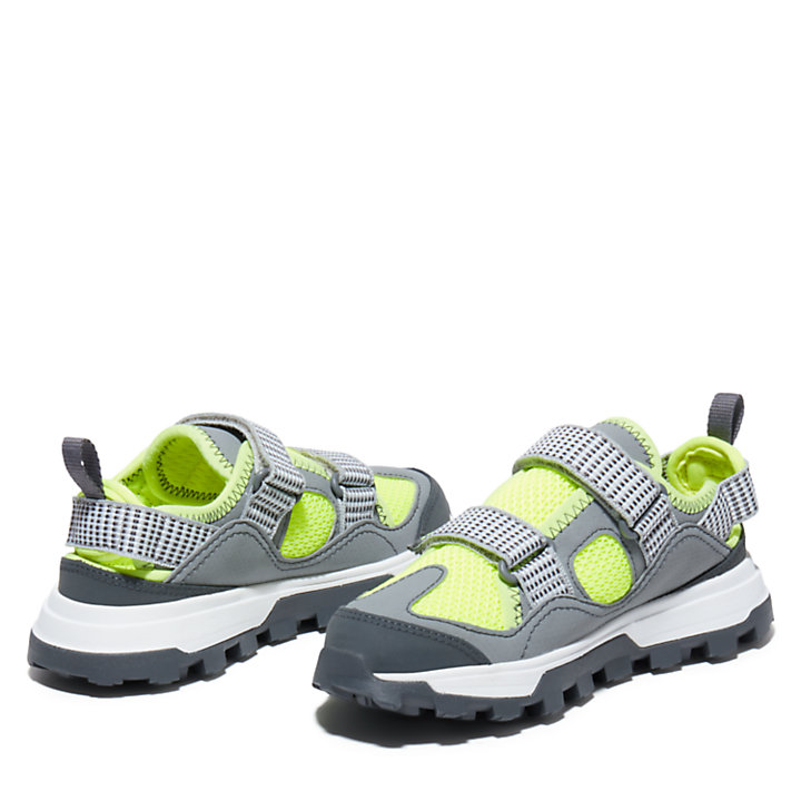 Treeline Fisherman Sandal for Youth in Grey-