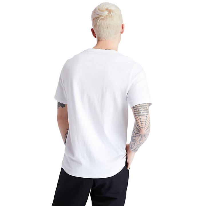T-shirt à logo arbre carré pour homme en blanc-