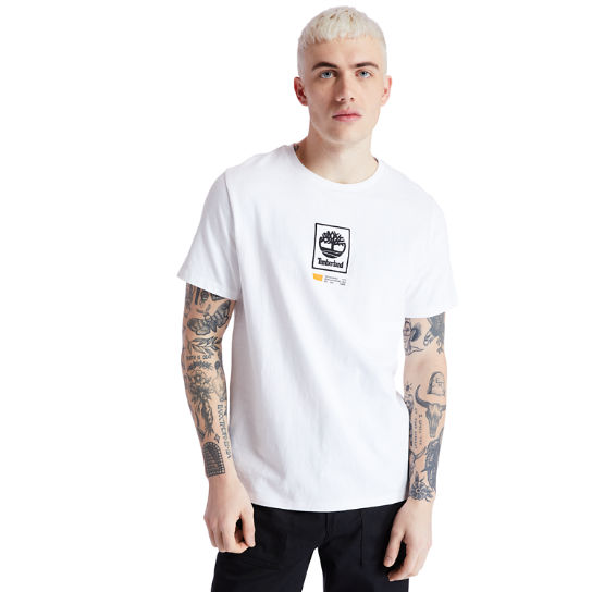 Square Tree Logo T-Shirt for Men in White | Timberland