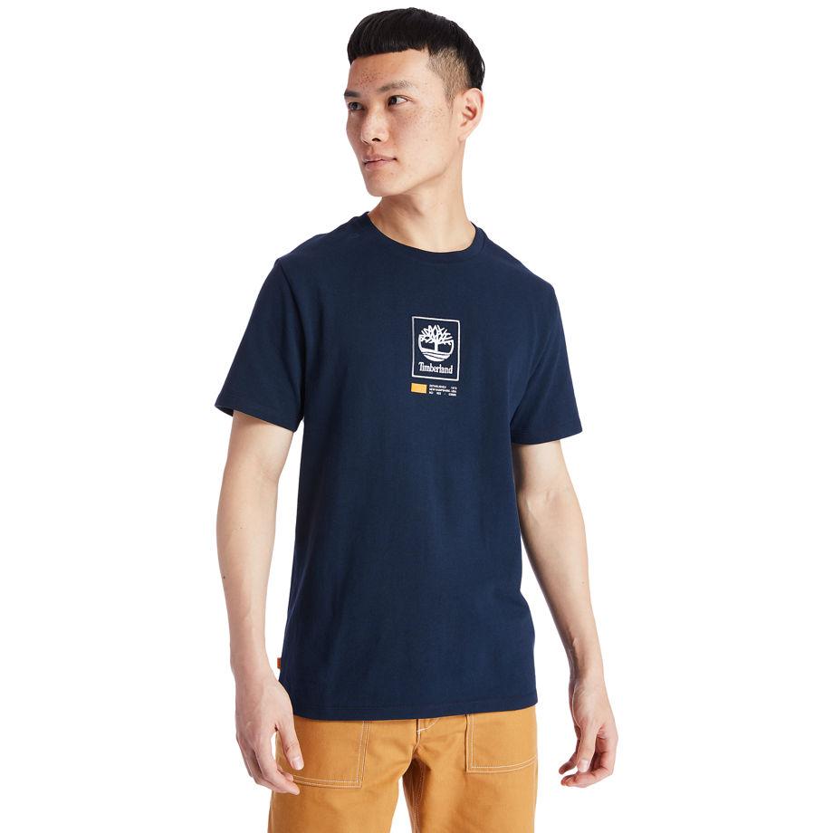 T-shirt À Logo Arbre Carré En Marine Marine, Taille M - Timberland - Modalova