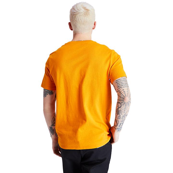 T-shirt à logo arbre carré pour homme en orange-