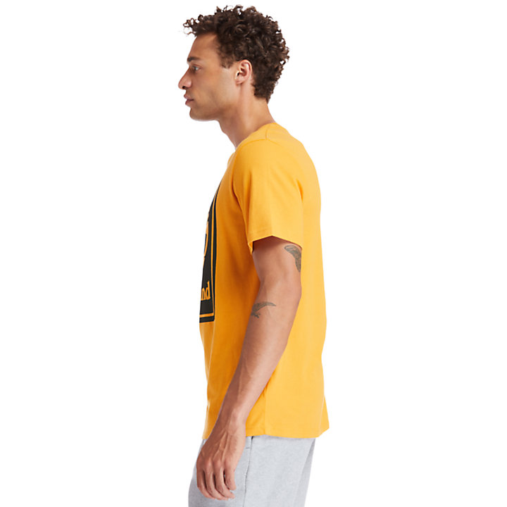 Stack Logo T-Shirt for Men in Orange-