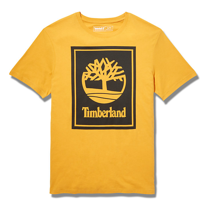 T-Shirt mit Logo für Herren in Orange-