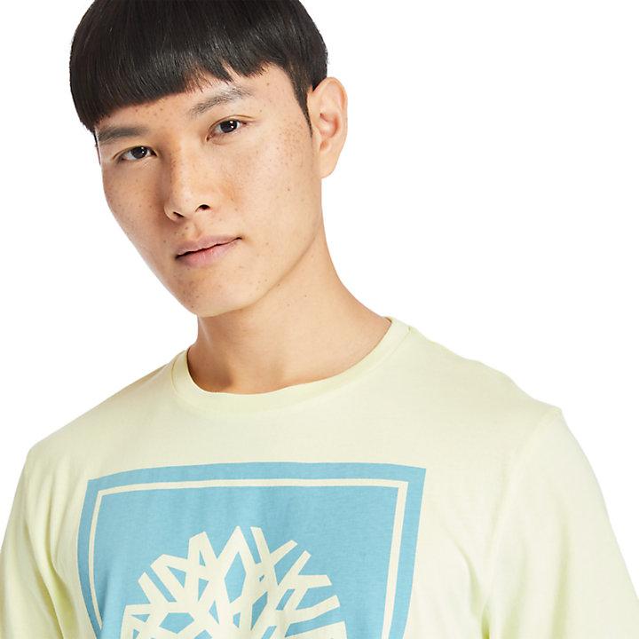 Stack Logo T-Shirt for Men in Light Green-