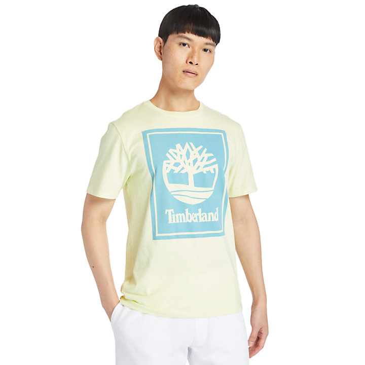 Camiseta con Logotipo Stack para Hombre en verde claro-