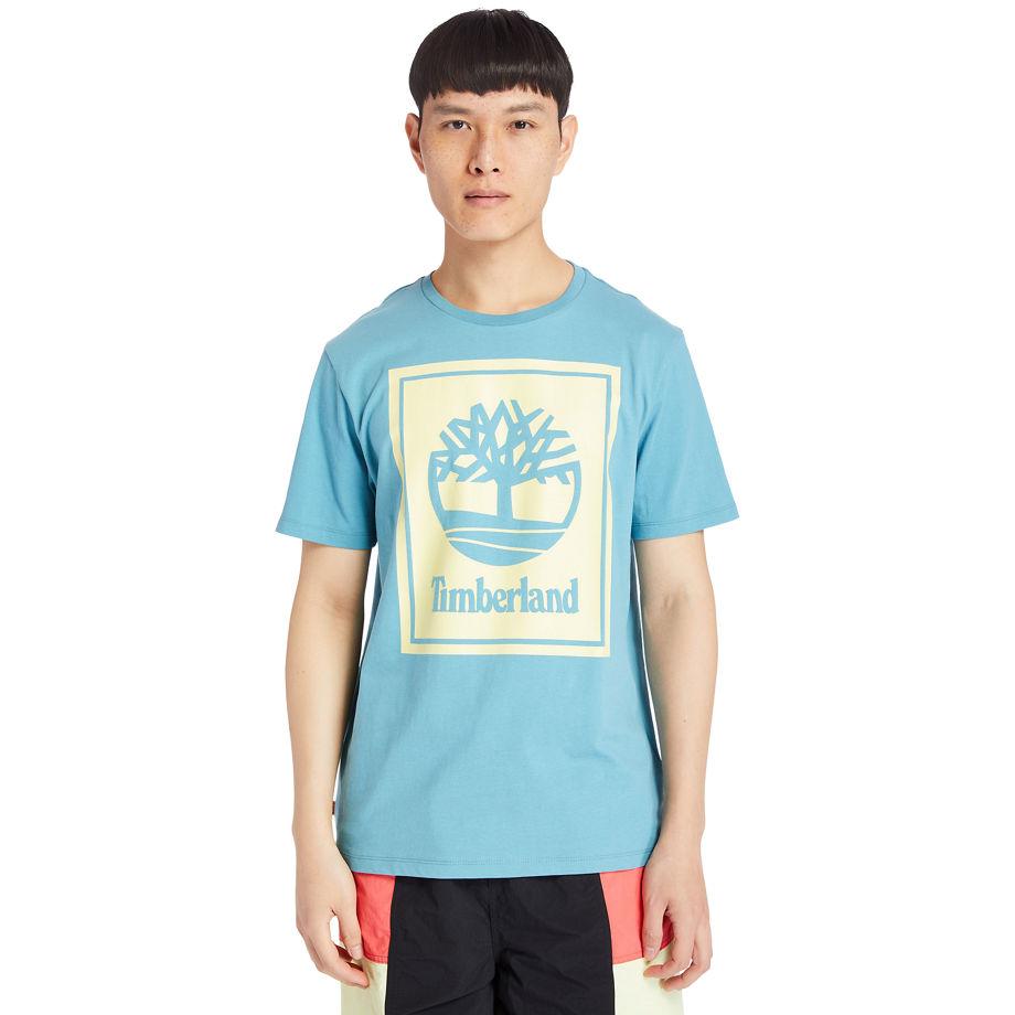 T-shirt À Logo Stack En Bleu Sarcelle Bleu Sarcelle, Taille S - Timberland - Modalova