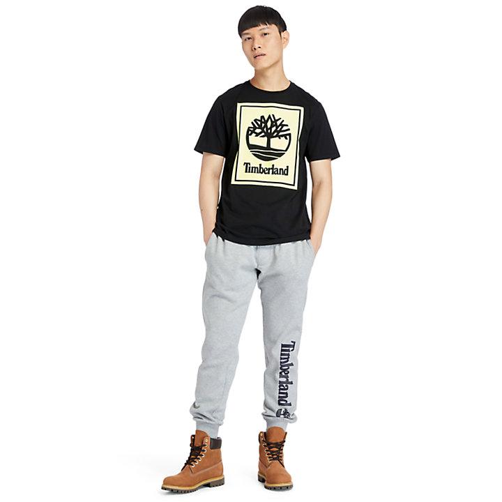 T-Shirt mit Logo für Herren in Schwarz/Gelb-