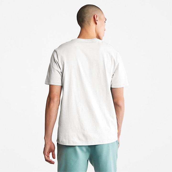 Camiseta con Logotipo Stack para Hombre en blanco-