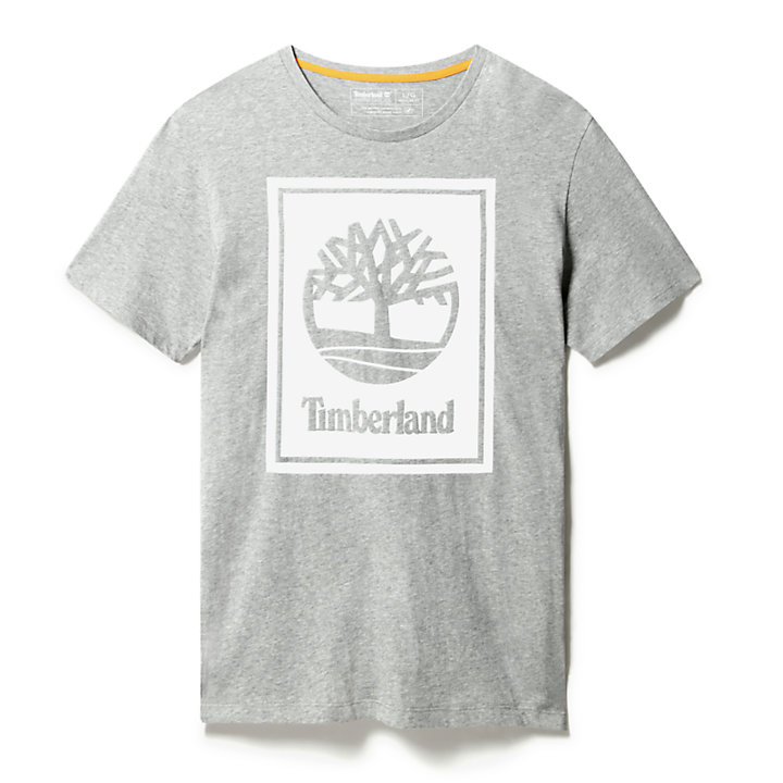 Stack Logo T-Shirt for Men in Grey-