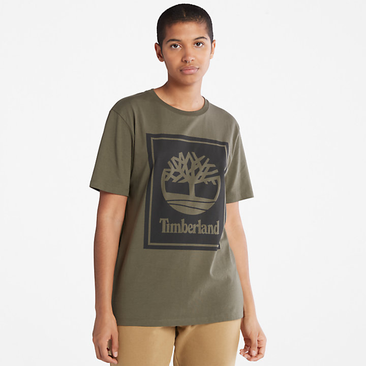 T-shirt da Uomo Stack Logo in verde-