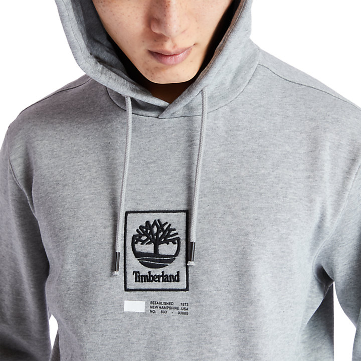 Kapuzenpullover mit Baum-Logo für Herren in Grau-