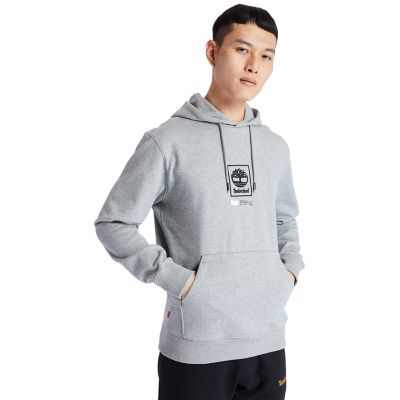 Tree+Logo+Hoodie+for+Men+in+Grey