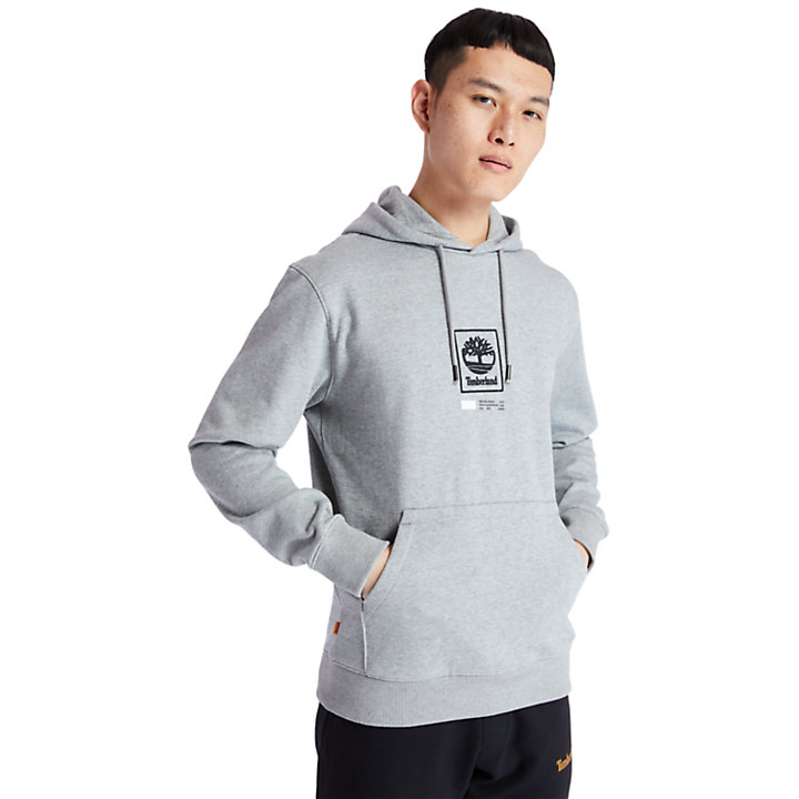 Tree Logo Hoodie for Men in Grey-