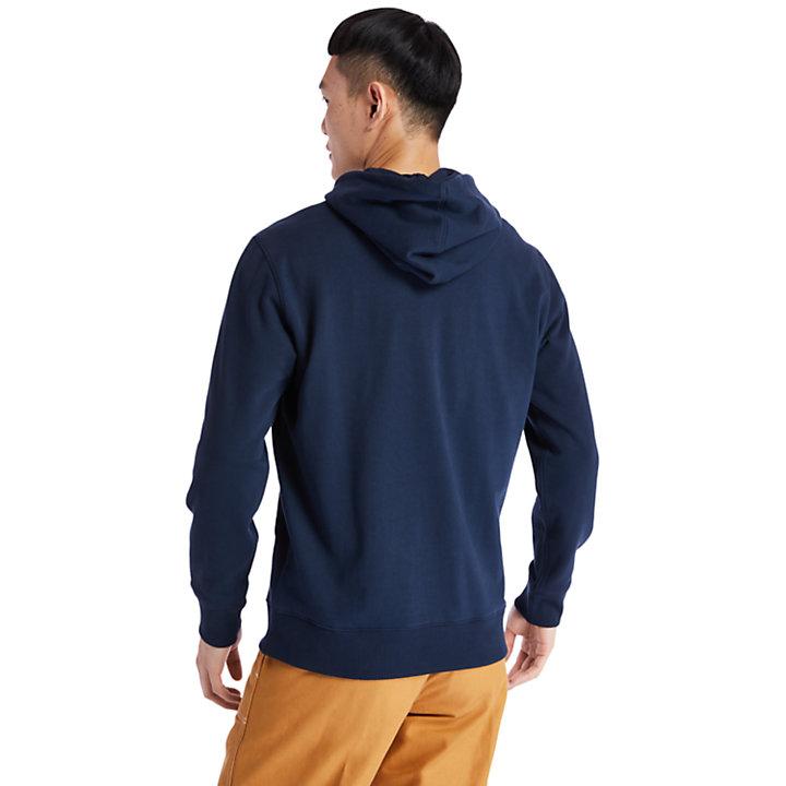Felpa da Uomo con Cappuccio e Logo ad Albero in blu marino-