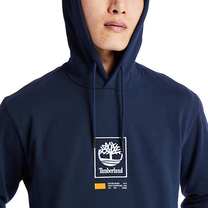 Tree Logo Hoodie for Men in Navy-