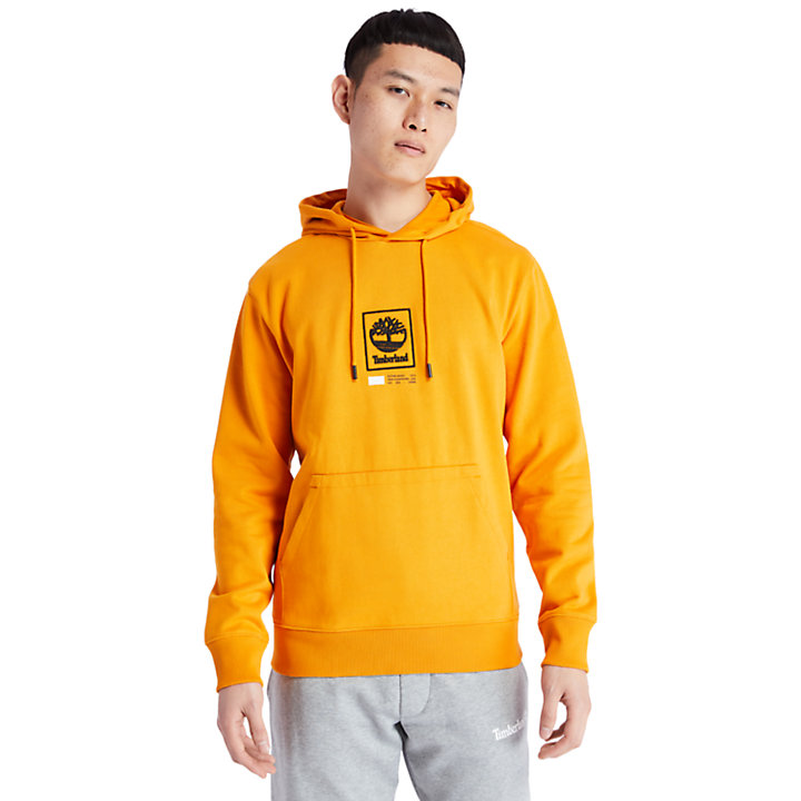 Tree Logo Hoodie for Men in Orange-