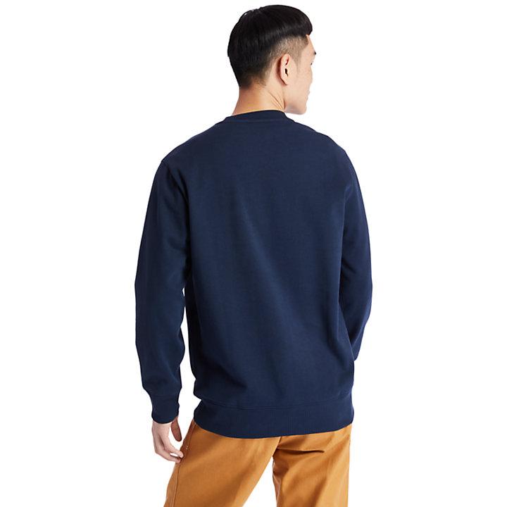 Tree Logo Long Crew Sweatshirt for Men in Navy-