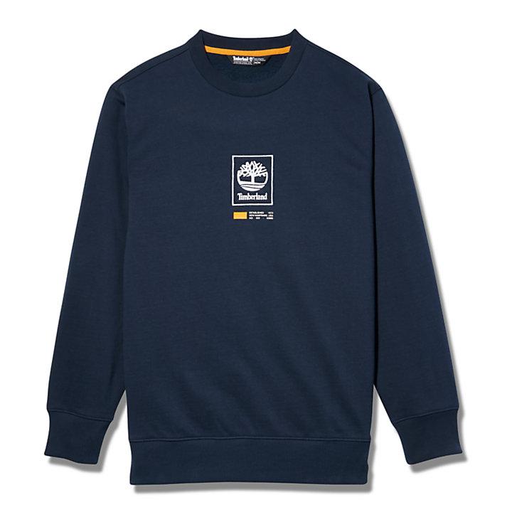 Tree Logo Long Crew Sweatshirt voor Heren in marineblauw-