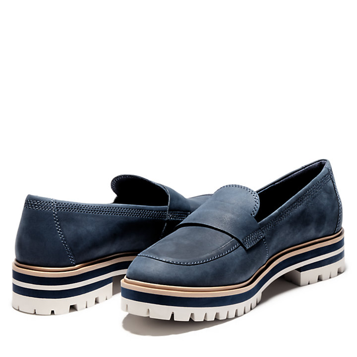 London Square Loafer for Women in Navy-