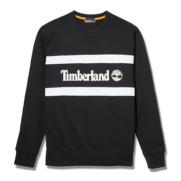 Cut and Sew Sweatshirt for Men in Black-