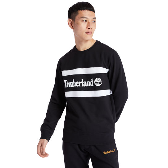 Cut and Sew Sweatshirt for Men in Black | Timberland