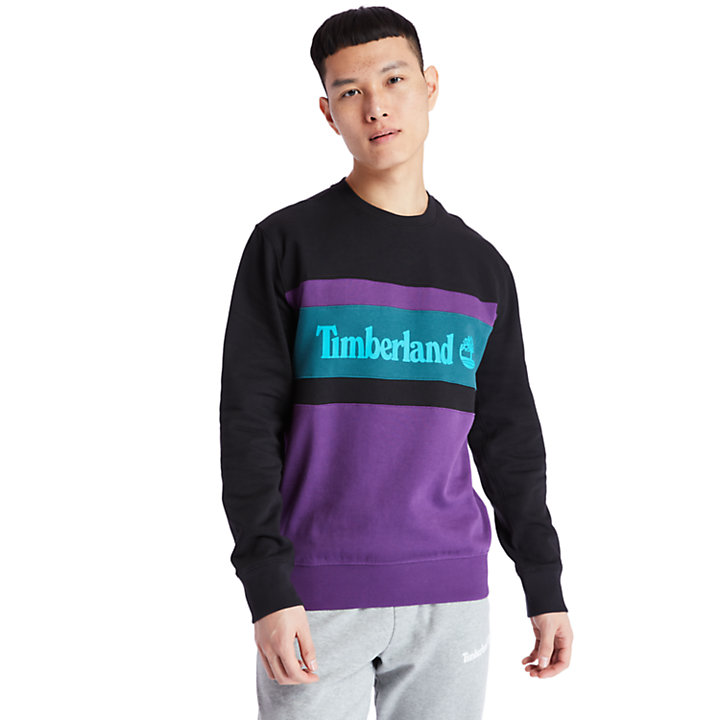 Cut and Sew Sweatshirt for Men in Purple-