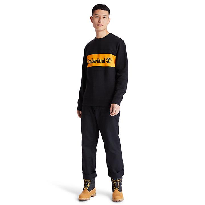 Sweat-shirt effet coupé-cousu pour homme en orange-