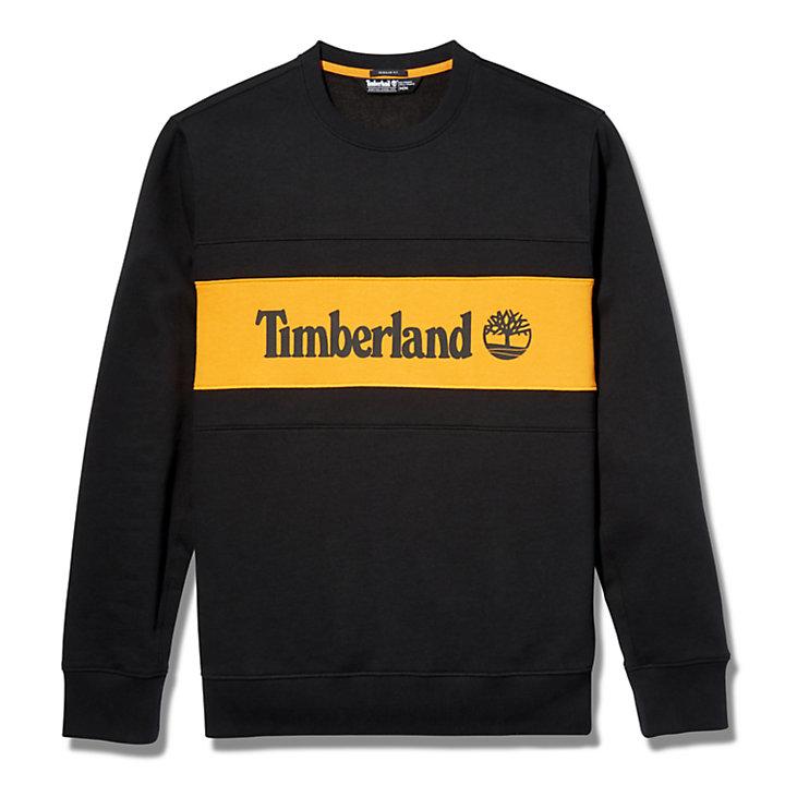 Cut and Sew Sweatshirt for Men in Orange-