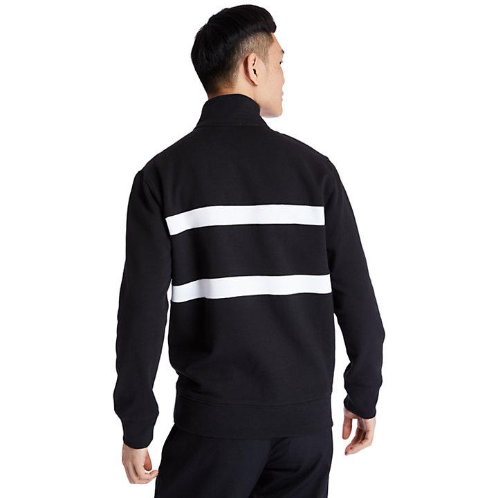 Sudadera con Cuello Alto para Hombre en color negro-