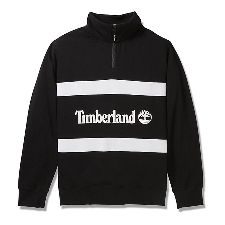 Sweatshirt mit Trichterkragen für Herren in Schwarz-