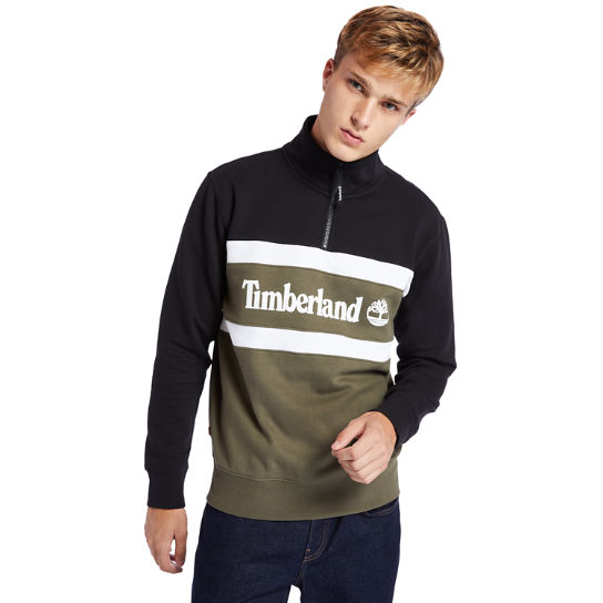 Funnel-neck Sweatshirt for Men in Green | Timberland