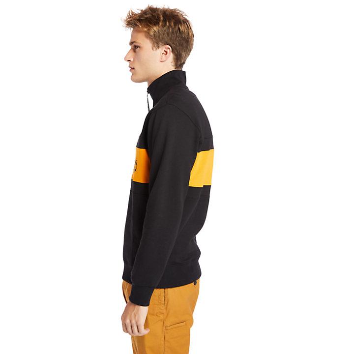 Funnel-neck Sweatshirt for Men in Orange-