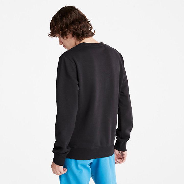 Sudadera de Cuello Redondo Oyster River para Hombre en color negro-