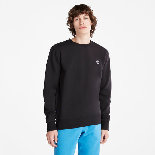 Oyster River Crew Sweatshirt for Men in Black | Timberland