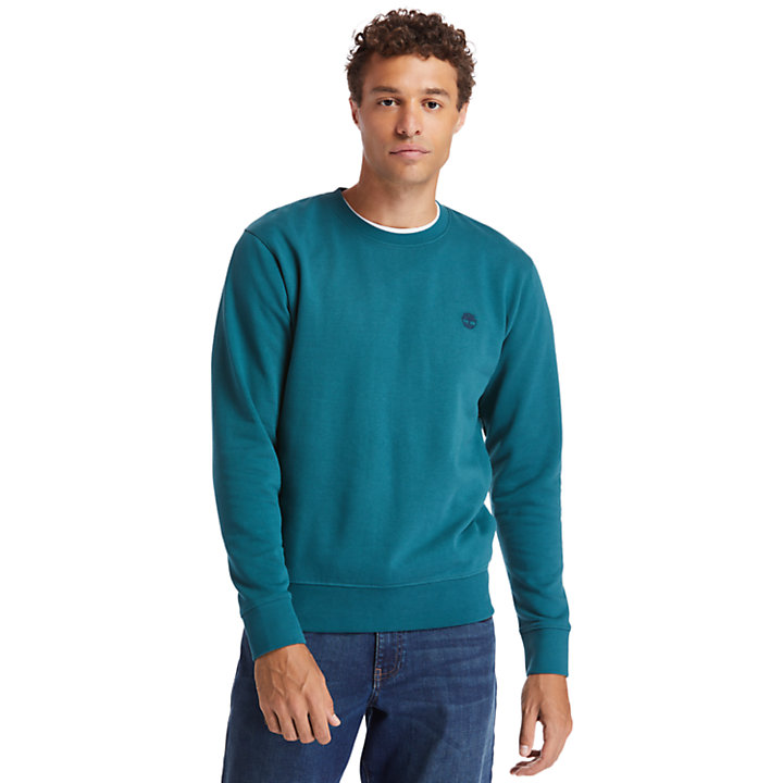 Oyster River Crew Sweatshirt for Men in Teal-