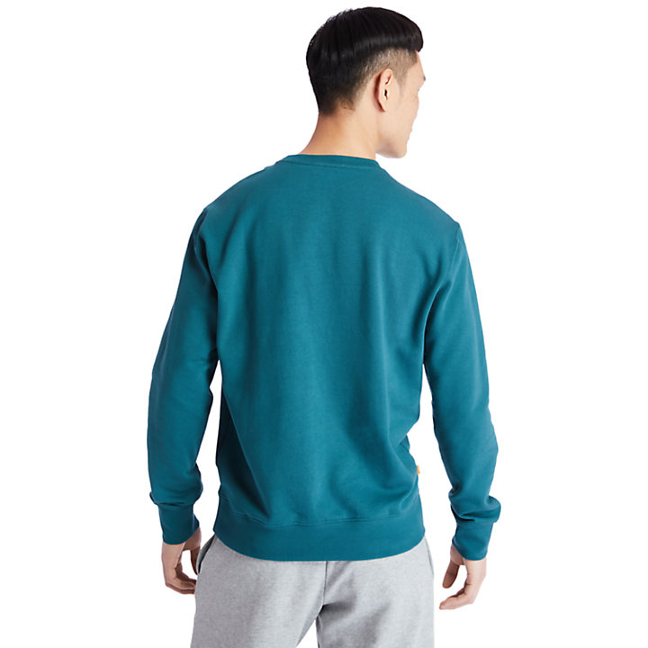 Sweat-shirt Established 1973 pour homme en bleu sarcelle-