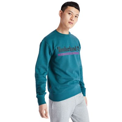 Established+1973+sweatshirt+voor+heren+in+groenblauw