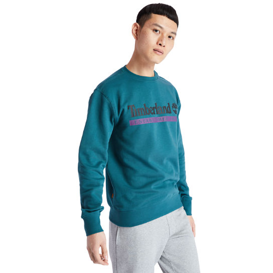 Established 1973 Sweatshirt for Men in Teal | Timberland