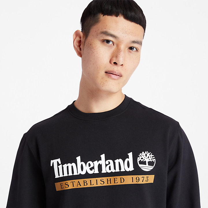 Established 1973 Sweatshirt for Men in Black-
