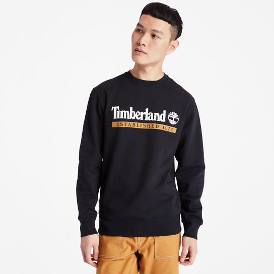 Established 1973 Sweatshirt for Men in Black | Timberland