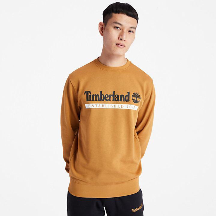 Sudadera Established 1973 para Hombre en amarillo-