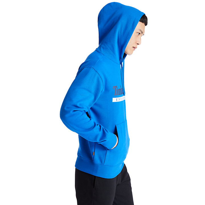 1973 Hooded Sweatshirt for Men in Blue-