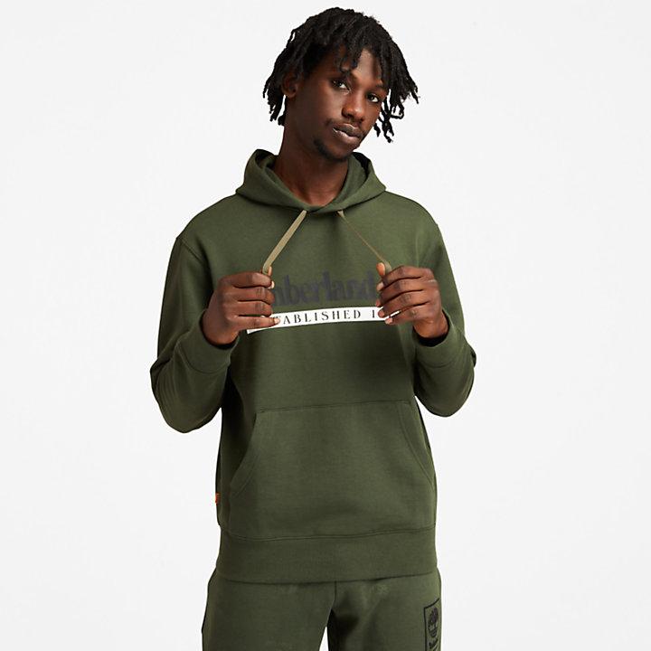 Established 1973 Hoodie for Men in Dark Green-