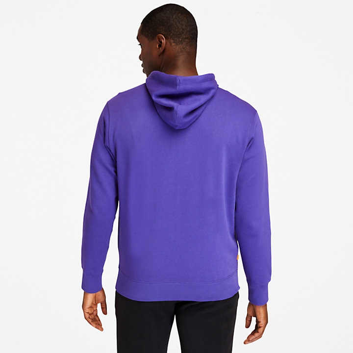 Sweat à capuche Established 1973 pour homme en bleu foncé-